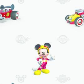 Dutch Wallcoverings AG Design Disney behang WPD 9771 Mickey Mouse Roadster Grey