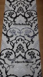 barok behang zwart zilver wit xx58