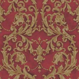 Rood barok behang j85210