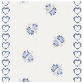 cozz kids 4032 wit blauw hartjes behang