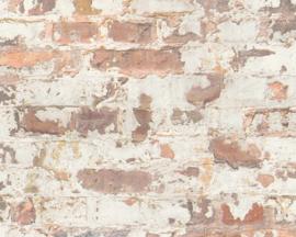 steen behang roodbruin verouderd  36929-1