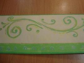 behangrand groen creme 59