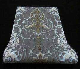 barok vlies behang grijs goud erismann 5795-47