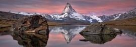 4-322 Komar Fotobehang Matterhorn stenen bergen bruin behang