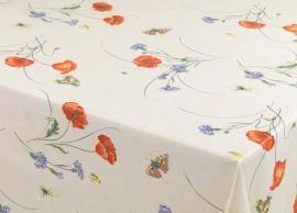 150-125 oranje paars groen bloemen tafelzeil