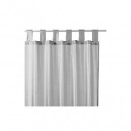 Gordijn satijn grijs - 140 x 240 cm