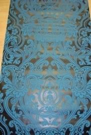 barok behang zwart blauw glans vlies 64