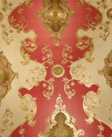 Rood goud barok behang xx542