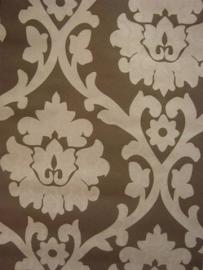 bruin behang barok creme vlies 39