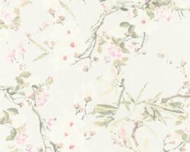 vogel behang bloemen 36498-1
