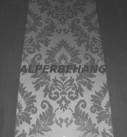 barok vlies behang wit zilver parelmoer 402