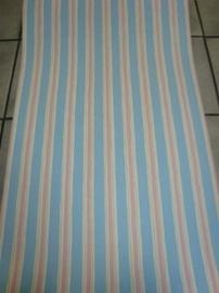 opruiming blauw roze streep behang 66