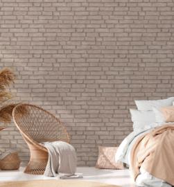 steen behang beige bruin 37747-3