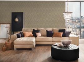beige goud barok textiel behang glitter 30659-3