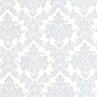 Barok behang zilver glitter 13701-30