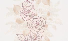 937484 La romantica roze creme beige behang