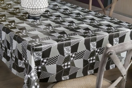 150-184 grijs zwart tafelzeil