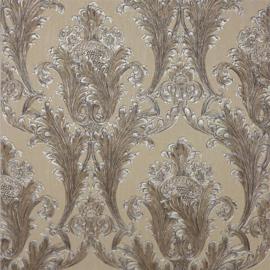 Arthouse Vintage Figaro Italian Damask Pattern Textured Glitter Vinyl Wallpaper (Charcoal 291203)