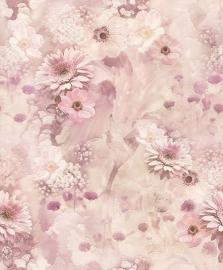 ROZE BLOEMEN BEHANG - Rasch Tiles and More 893410