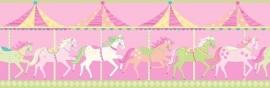 Dutch Carousel behangrand DLB50082 Horses
