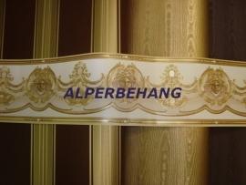 klassiek behang strepen bruin goud 315