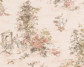 Behang natuur beige roze AS Romantica 30429-2