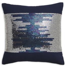 Arthouse Glitterati kussen Blue Sequin 008331