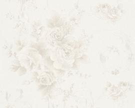 Behang Bloemen zilver AS Romantica 30647-2