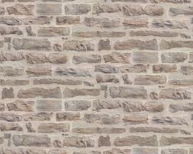 steen behang bruin taupe 3d xx20
