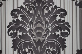 barok behang bruin creme 137