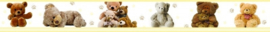 Dutch XXL behangrand Teddybears 80013