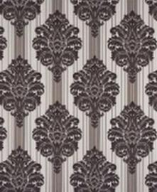 bruin behang barok zwart wit 41