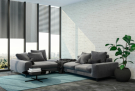 vliesbehang steenlook 3d grijs wit  37422-2