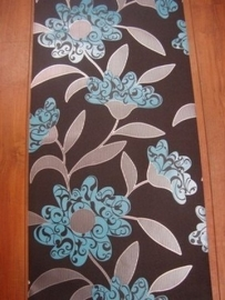 modern bloemen behang parelmoer bruin 86