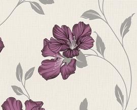 paars bloemen behang 94429-2