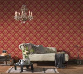 goud rood barok behang 34492-2