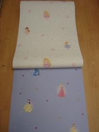 meisjes roze blauw geel prinses behang 28