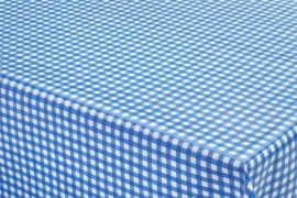 150-099 blauw wit ruitjes tafelzeil