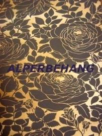 bruin bloemen vlies behang 103