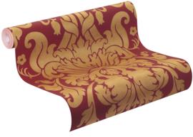 Rood goud barok behang 546408