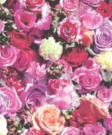 rozen bloemen behang 3d Kaleidoscope J970-10