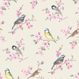 vogel behang op takken 103319