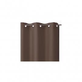 Verduisteringsgordijn bruin - Panel oeœillets geïs