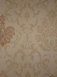 beige brons glitter behang 26