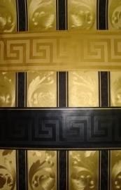 zwart of  goud behangrand meander xxx121
