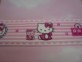 roze lief mooi hello kitty behangrand 71