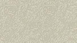 55784-27 behang bloemetjes vlies klassiek 3D effect bruin taupe