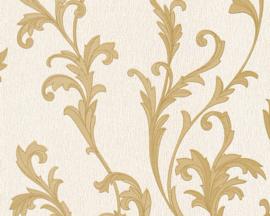 behang glitter bruin goud barok 32476-2