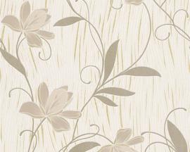 Goud glitter behang bloemen 9496-53