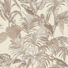 Vogel Behang  exotic Wallstitch De120012